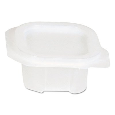 Dixie Liddles Portion Cups w/Attached Lids, 2 oz, Clear, Plastic - Includes 900 cups and 900 lids