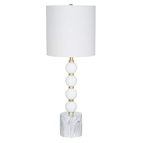 Catalina Lighting Catalina Lighting 20947-000 Contemporary Glass Table Lamp with Marble Base, Shade, 29.5