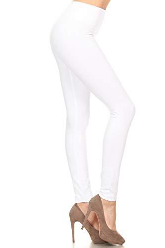 FL9000 FLX-White Fleece Lined Leggings, Plus Size