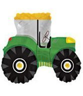 TRACTOR SHAPE BALLOON, GREEN (25 Inch Mylar) Pkg/1 by CTI [並行輸入品]   B017A3EPEQ