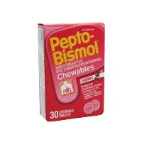 (Pepto-Bismol 5 Symptoms Digestive Relief Chewable Tablets, Cherry 30 ea)