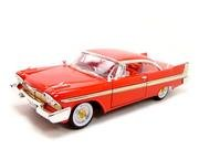 Motormax Timeless Classics - 1958 Plymouth Fury Hard Top 1/18 Scale Diecast Model Car Red (Christine Model Car compare prices)