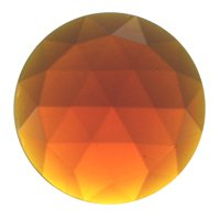 Stained Glass Jewels – 25mm Round Faceted – Dark Amber