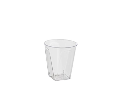 Exquisite 2 Oz. Disposable Plastic Shot Glasses - Square Bottomed - (500) Party Shooter Glasses ()