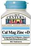21e siècle CAL MAG ZINC + D 90 Tabs