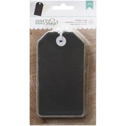 Bulk Buy: American Crafts  DIY Shop Tags 12/Pkg Chalkboard,