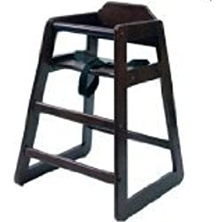 "Lipper International 516E Child's High Chair, 20"" W x 19.75"" D x 28.75"" H, Espresso Finish"