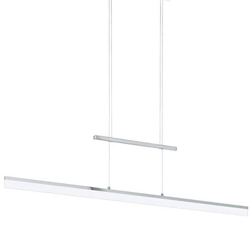 EGLO Led-hanglamp Tarandell, 2 vlammige hanglamp dimbaar, in hoogte verstelbaar, hanglamp van aluminium, staal en…
