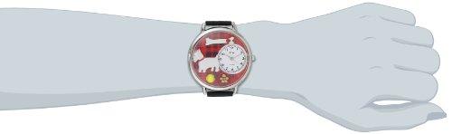 Whimsical Watches Unisex U0130073 Westie Black Skin Leather Watch