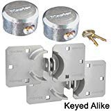 Master Lock Hasp / Hidden Shackle Keyed Alike Padlocks 770 - 6271KA-2