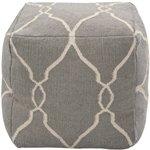 Jill Rosenwald by Surya POUF-24 Hand Made 100% Wool Rust 18'' x 18'' x 18'' Pouf