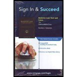 Sign In & Succeed Business Law: Text and Cases 12e Clarkson/Miller/Cross