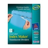 AVE11432 - Avery Index Maker Clear Label Unpunched Divider