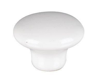 Amerock 232WHT Allison Round Cabinet Knob, 1 in Projection, 1-1/4 in Dia, Ceramic, White