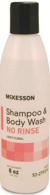Mckesson Shampoo & Body Wash No Rinse 8 oz-CS/48 by McKesson