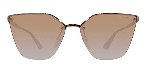 Prada Women's 0PR 68TS Rose Gold/Mirror Rose Gradient One -