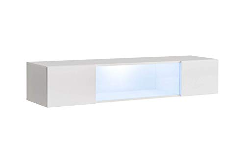 Black High Gloss Sideboard With Led Lights in US - 9