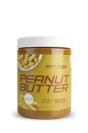 Bodylab24 땅콩 버터 | 1kg | 부드러운 | 100 % 땅콩 버터, 유쾌 크림 및 풀 땅콩 맛