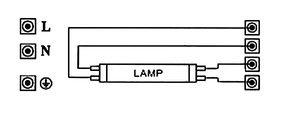 Dh - Balasto electró n, fluorescente t8-2x36w Electro DH