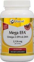Vitacost Mega EFA Omega-3 aceite de pescado EPA y DHA, mg 2.126 por porción - 60 cápsulas