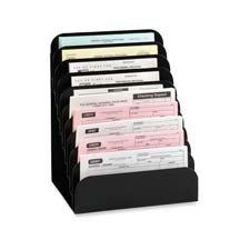 Wholesale CASE of 5 - MMF Industries Steel Cashier Pad Rack-Steel Check Rack,Rubber Feet,10-Pocket,8''x6-3/4''x11'',Black