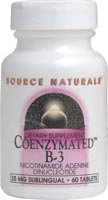 Source Naturals CoenzymatedT B-3 -- 25 mg - 60 Sublingual Tablets - 3PC by Source Naturals