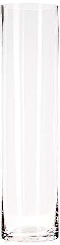 WGV Clear Cylinder Glass Vase, 4 by 16-Inch
