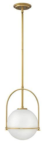 (Hinkley 3407HB Contemporary Modern One Light Pendant from Somerset collection in Brassfinish,)