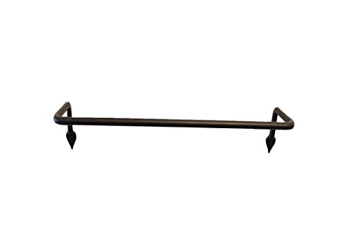 Marie Décor Blacksmith Handmade Wrought Iron Towel Holder for Kitchen and Bathroom (Black, Small)