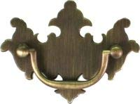 Chippendale Antiqued Brass Drawer Pull Handle Centers: 2