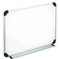 Universal 24 x 18 in. Melamine Dry Erase Board with Aluminum/Plastic Frame
