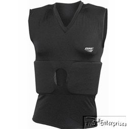 Bike Adult Compression Shirt with Rib and Shoulder Pads - One Color 2 XLarge