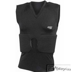 Bike Adult Compression Shirt with Rib and Shoulder Pads - One Color 2 (Bike Football Shoulder Pads)