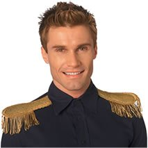 Gold Epaulettes Costume (Rubie's Costume Co Epaulettes-Gold Or Silver Costume Gold Costume)