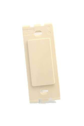 Leviton 80314-T 1-Gang Decora Plastic Adapter Blank - No hole, Light - Leviton Insert Decora Blank