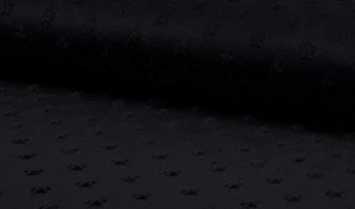 10Mtr 1000cmx150cm luxuriös Supersoft Sterne kuschliger weiches Fleece Stoff - schwarz - Schwarz, 10Mtr 1000cmx150cm