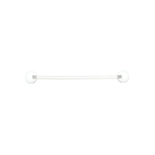 - Industrial Barbell Clear Flexi Ear Piercing Barbell Jewelry 14G 38mm 1.5