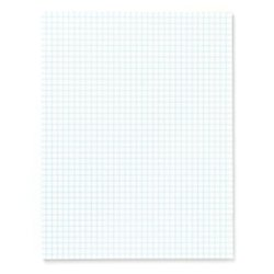 Office Depot Quadrille Pads, 4 x 4 Squares/Inch, 25 Sheets, White, Pack Of 6, 99476