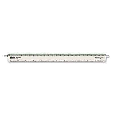 CHA238 - Chartpak Adjustable Triangular Scale Aluminum Architects Ruler by Chartpak