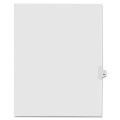Index Dividers,Number 93,Side Tab,1/25 Cut,Letter,25/PK,WE - 2pc