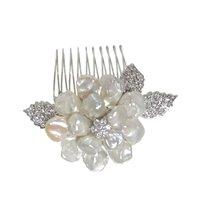 SimanTu Crystal Pearl Pin/Comb