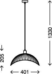 metal, E27, di/ámetro de 40,1 cm Briloner Leuchten L/ámpara de techo color negro dise/ño retro
