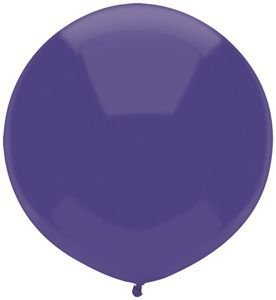 Single Source Party Supplies - 17'' Regal Purple Outdoor Latex Balloons - Case of 720