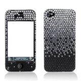 Aimo Wireless IPHONE4GPCDI198 Bling Brilliance Premium Grade Diamond Case for iPhone 4 - Retail Packaging - Black