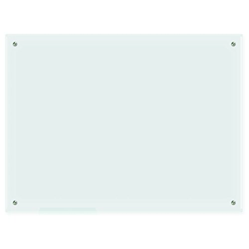 Lockways Glass Dry Erase Board, Glass Board, Whiteboard White Board 48 x 36 Inch, Frosted Surface, Frameless, Clear Marker Tray, Wall-Mounted Whiteboard for Office, Home, School