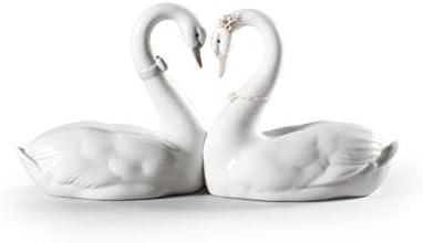 LLADR Endless Love Swans Figurine. Porcelain Swan Figure.