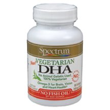 Spectrum Essentials Vegetarian DHA Softgel - 90 per pack - 3 packs per case.