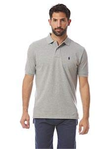 Polo Ralph Lauren Mens Classic-Fit Mesh Short sleeve Polo (X-Large, Andover Heather)