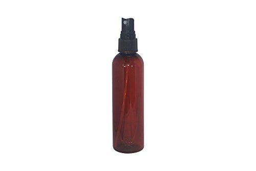 Botanical Bottle ((Pack of 20) 8 oz Empty Bottles - Refillable Plastic Container w/ Black Spray Cap – PET Plastic Cosmo Bullet Bottle for Oils, Soap, Shampoo, Lotion, Aromatherapy and More)