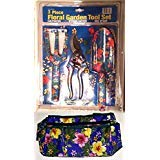 MOTHER'S DAY GIFT - 3 PIECE SET OF FLORAL GARDENING TOOLS WITH TOOL BAG FOR WOMEN GIRLS KIDS {jg}